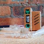 Picture of the Tubo Evic vaporizer and the glass attachemnts